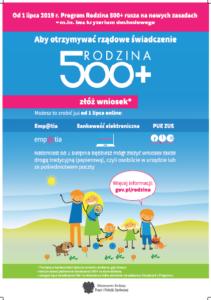 Informacja o 500+