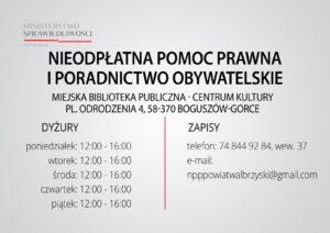 Informacja o nieodpłatnej pomocy prawnej i poradnictwie obywatelskim