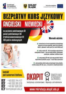 Informacja o bezpłatnym kursie językowym - angielski i niemiecki