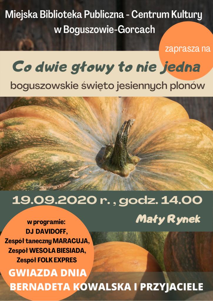 plakat zapraszający na imprezę plenerową